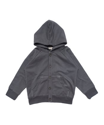 Dark Gray Organic Hoodie - Infant, Toddler & Kids