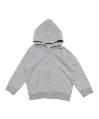 Gray Mélange Organic Hoodie - Infant, Toddler & Kids