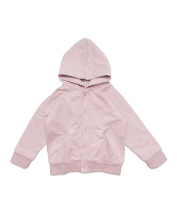 Vintage Pink Organic Hoodie - Infant, Toddler & Girls