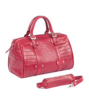 Red Croc Martinique Leather Handbag