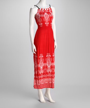Red Lavish Beaded Dress