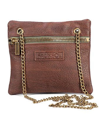 Bomber Brown Chain Reaction Crossbody Bag