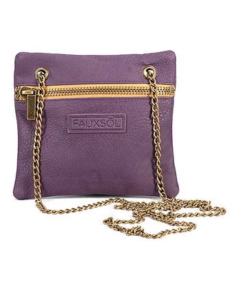 Eggplant Chain Reaction Crossbody Bag
