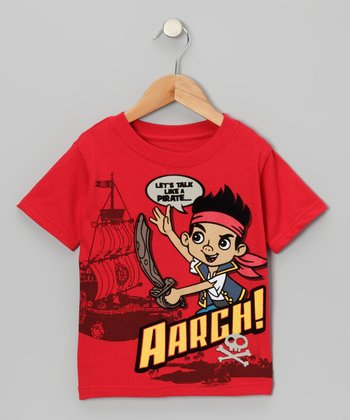 Red Jake 'Aargh!' Tee - Toddler