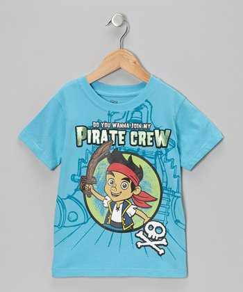 Blue 'Pirate Crew' Tee - Toddler
