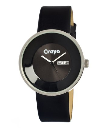 Black Button Watch - Unisex