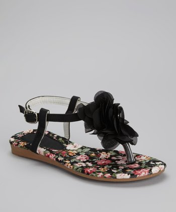 Black Rose Sandal