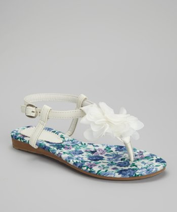White Rose Sandal