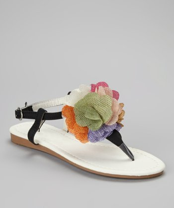 Black Bloom Sandal