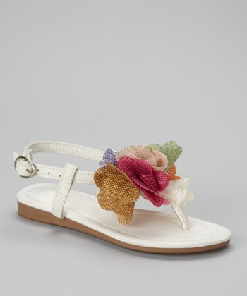 White Bloom Sandal