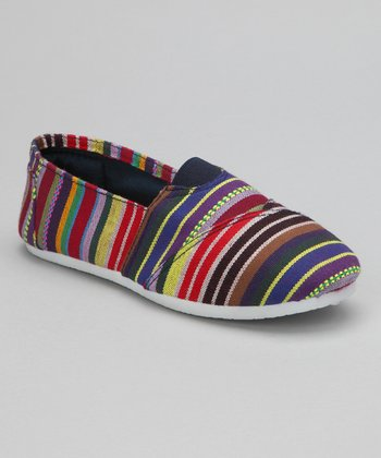 Navy Stripe Slip-On Shoe