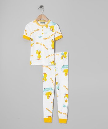 Yellow 'Splish Splash' Pajama Set - Toddler & Kids