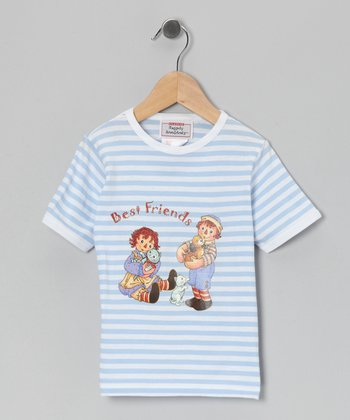 Blue Stripe Raggedy Ann 'Best Friends' Tee - Toddler & Girls