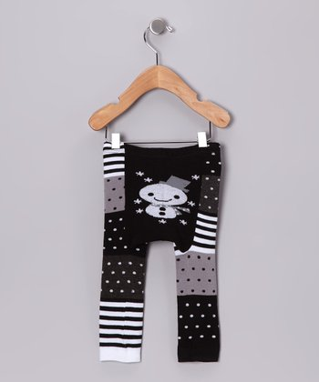 Black & White Snowman Pants