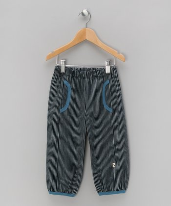 White & Blue Stripe Denim Pants - Infant, Toddler & Boys