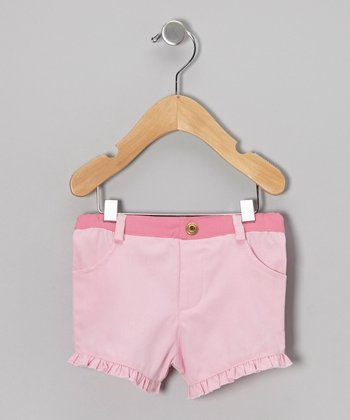 Light Pink Ruffle Organic Shorts - Infant & Toddler