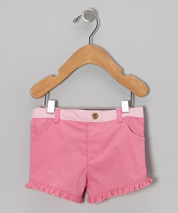 Pink Ruffle Organic Shorts - Infant & Toddler