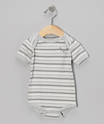 Gray Stripe Organic Bodysuit