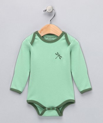 Green Apple Dragonfly Organic Bodysuit - Infant