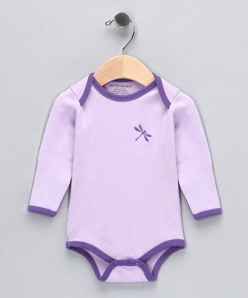 Orchid Dragonfly Organic Bodysuit - Infant