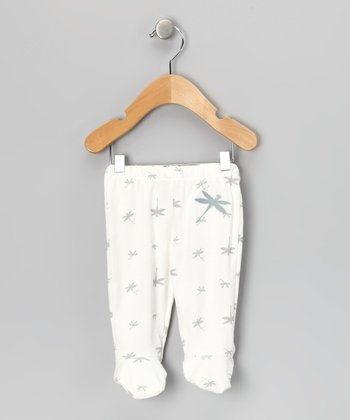 White Dragonfly Organic Footie Pants - Infant