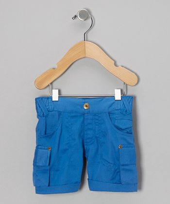 Blue Organic Cargo Shorts - Infant, Toddler & Boys