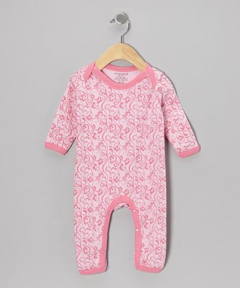 Light Pink Floral Organic Playsuit - Infant