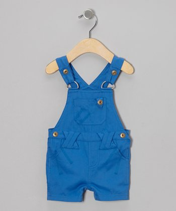 Blue Organic Shortalls - Infant