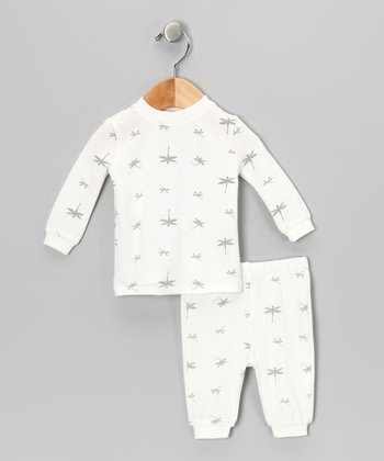White Dragonfly Organic Pajama Set - Infant