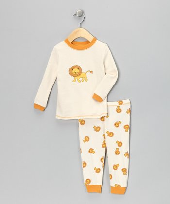 Tan Lion Organic Pajama Set - Infant