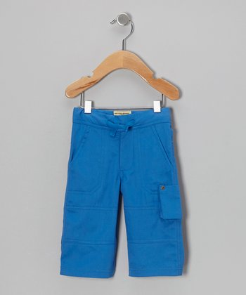 Blue Organic Cargo Pants - Infant, Toddler & Boys