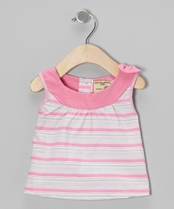 Light Pink Stripe Organic Yoke Top - Infant & Toddler