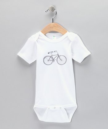 White Bicycle Bodysuit - Infant