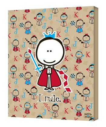 Little King 'I Rule' Wall Art