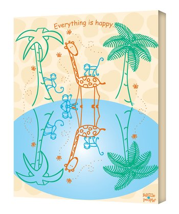 Giraffe 'Everything Is Happy' Wall Art