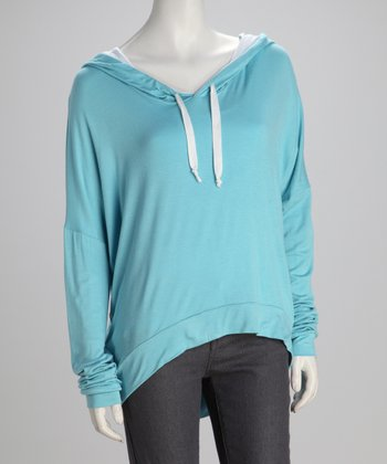 Southward Light Blue Boyfriend Hoodie