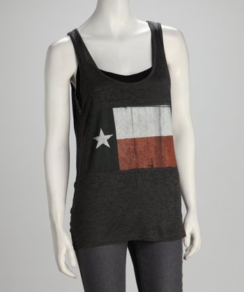 Southward Charcoal Stars & Stripes Tank