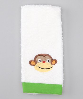 White Monkey See Monkey Do Tip Towel