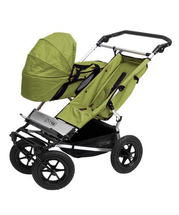 Moss Duo stroller with carrycot and storm cover