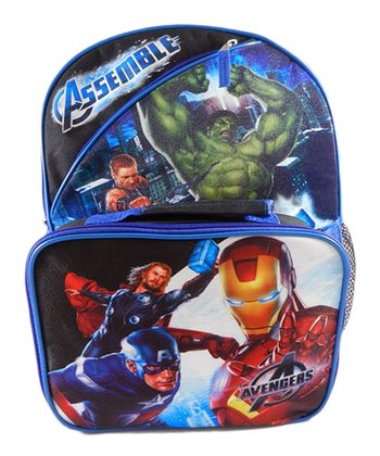 Blue Avengers Backpack & Detachable Lunch Case