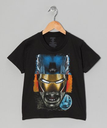 Black Avengers Tri-Face Tee - Kids