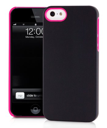Pink & Black UN Colors Deflector Case for iPhone 5