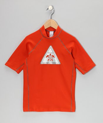 Orange Tortoise Rashguard - Toddler & Boys