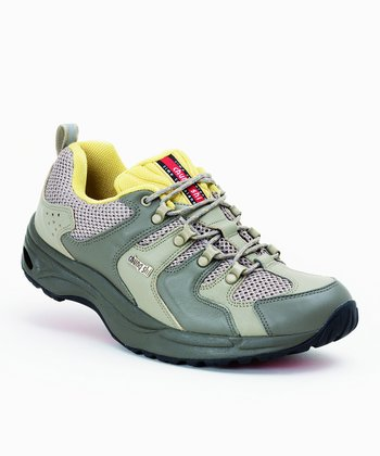 Khaki & Gray Balance Step Holiday Sneaker