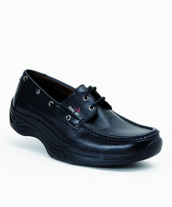 Black Comfort Step Mokassin Shoe
