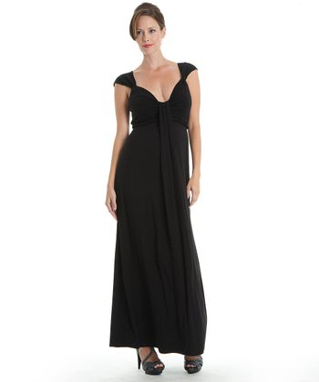 Black Jasmine Maternity Dress