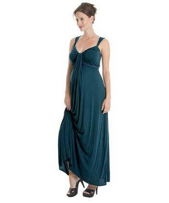 Teal Jasmine Maternity Dress