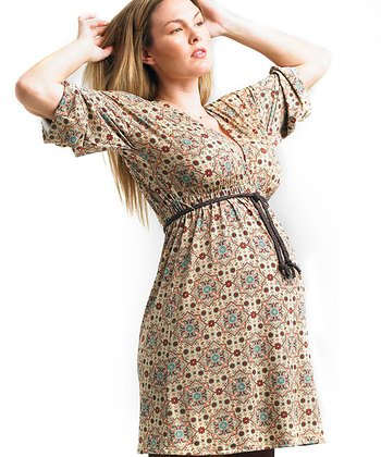 Juliet Dream - Printed Cozy Maternity Dress