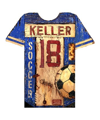Red Horse Signs Soccer Jersey Personalized Wall Art