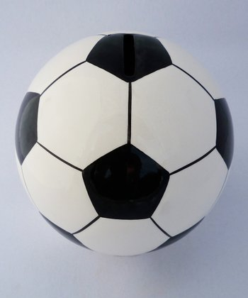 Agnik Design Black Soccer Ball Money Bank